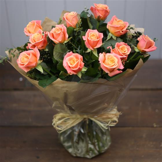 The Rose Bouquet in Orange